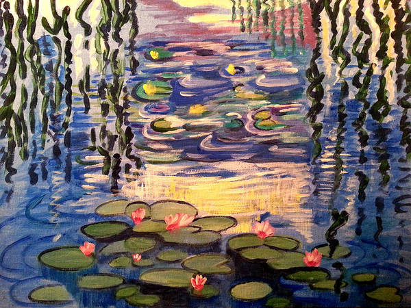 Painting - Lily Pond Reload For Size by Nikki Dalton