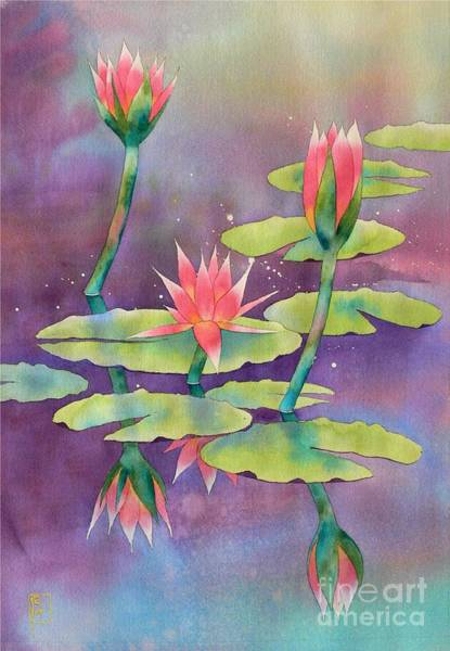 Waterlily Painting - Lily Pond by Robert Hooper