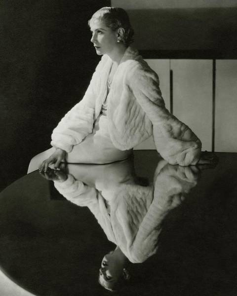 Mirror Photograph - Lilyan Tashman Wearing A Bolero by Cecil Beaton