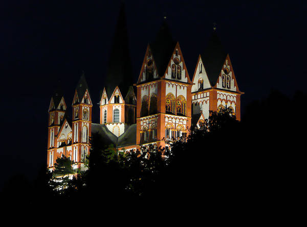 Photograph - Limburg Cathedral At Night by Jenny Setchell