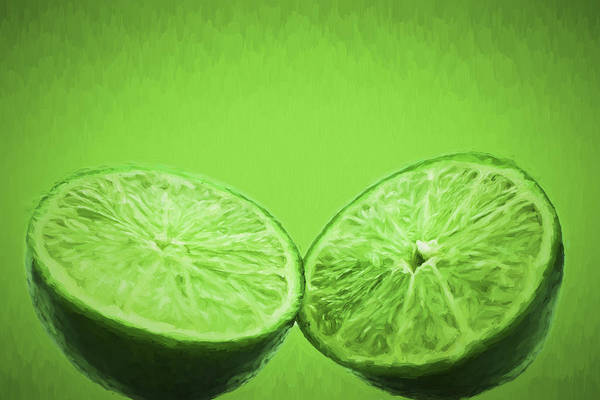 Photograph - Lime Food Painted Digitally 2 by David Haskett II