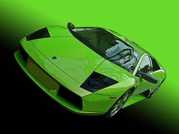Lime Green Lamborghini Murcielago Art Print