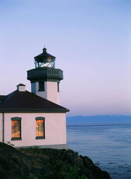 Protection Photograph - Lime Kiln Lighthouse, San Juan Island by Danita Delimont
