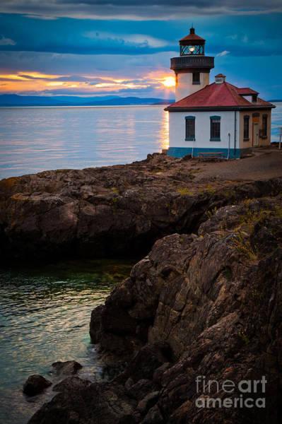 North Coast Harbor Photograph - Lime Kiln Sunburst by Inge Johnsson
