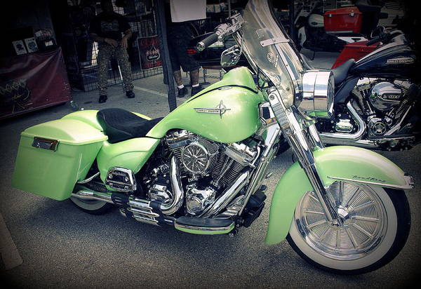 Branding Iron Photograph - Lime Sherbert Harley by Laurie Perry