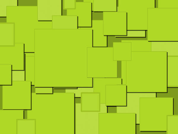 Digital Art - Lime Squares by Celestial Images