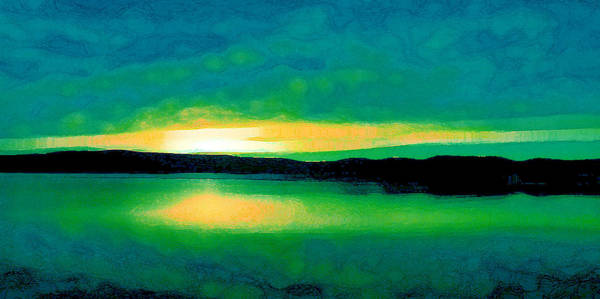 Digital Art - Lime Sunset by David Hansen