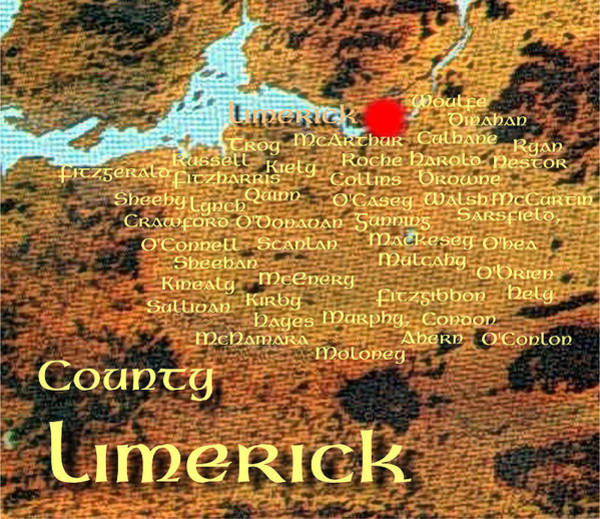 Digital Art - Limerick Families by Val Byrne