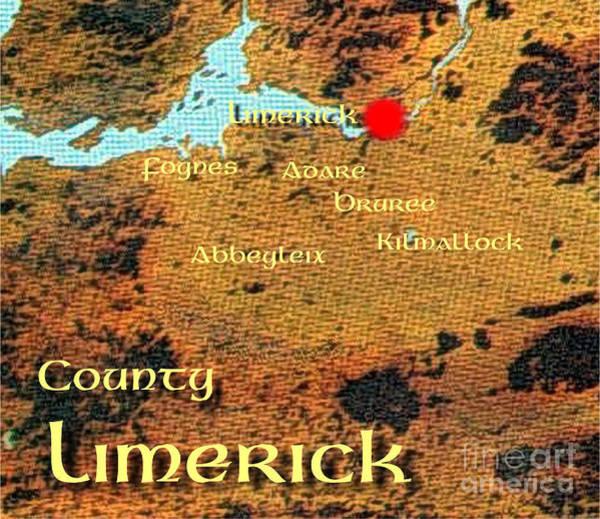 Digital Art - Limerick Places by Val Byrne