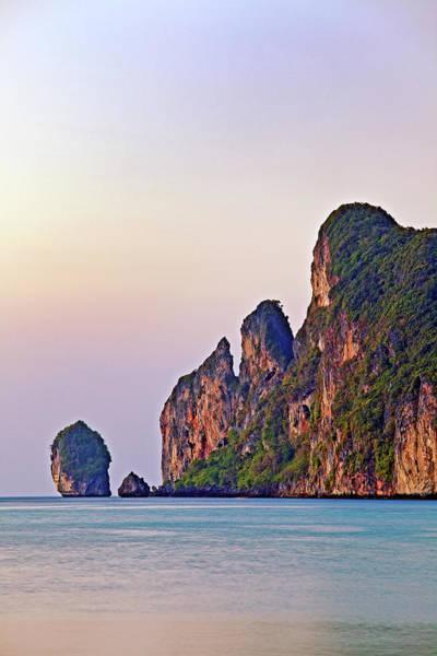 Phi Phi Island Photograph - Limestone Karsts, Koh Phi Phi Don by John W Banagan