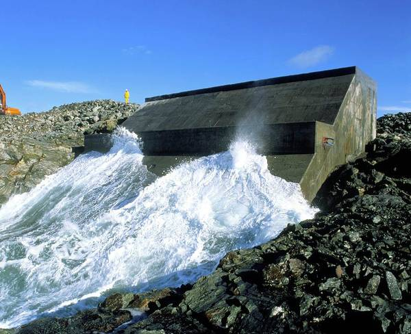 Generators Photograph - Limpet Wave Power Station by Martin Bond/science Photo Library