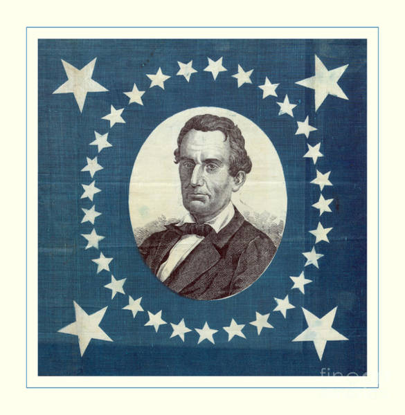 Wall Art - Photograph - Lincoln 1860 Presidential Campaign Banner - Bust Portrait by John Stephens