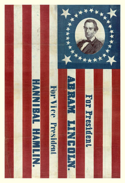 Wall Art - Photograph - Lincoln 1860 Presidential Campaign Banner by John Stephens