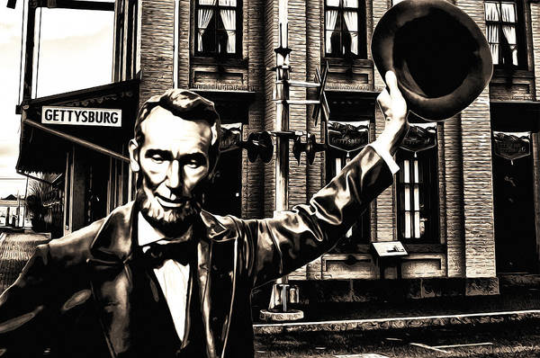 Gettysburg Address Wall Art - Photograph - Lincoln Arriving At Gettysburg by Bill Cannon