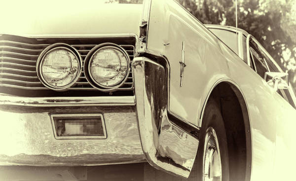Glossy Photograph - Lincoln Continental by Joan Carroll
