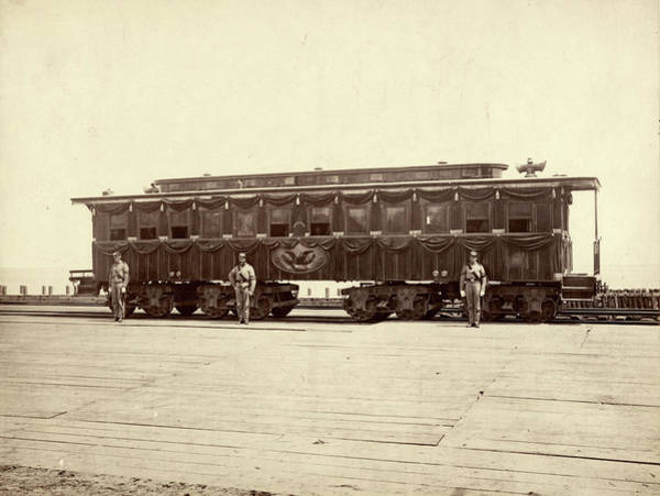 Photograph - Lincoln Funeral Car, 1865 by Granger