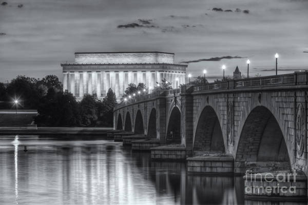 Clarence Photograph - Lincoln Memorial And Arlington Memorial Bridge At Dawn II by Clarence Holmes