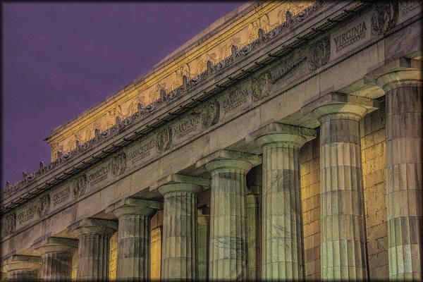 Photograph - Lincoln Memorial by Erika Fawcett