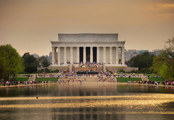 Photograph - Lincoln Memorial In Washington Dc by Songquan Deng