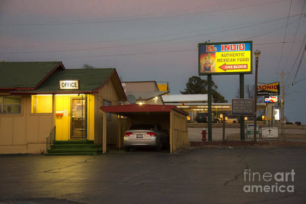 Indio Photograph - Lincoln Motel Reception  by Rob Hawkins