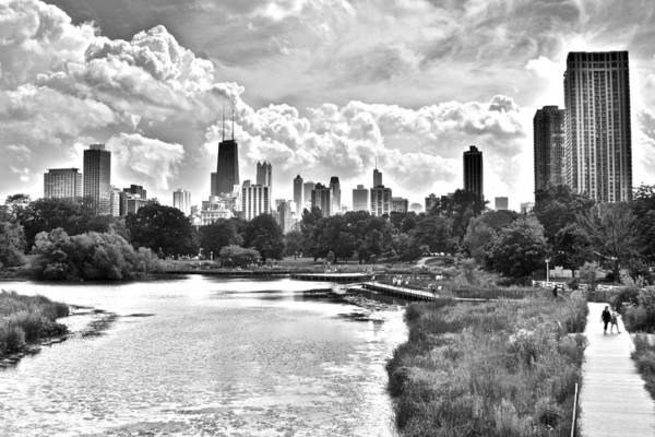 Wall Art - Photograph - Lincoln Park Black And White by Frozen in Time Fine Art Photography