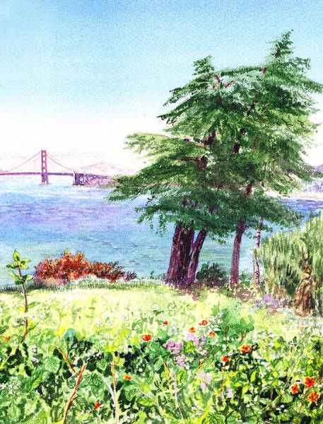 Painting - Lincoln Park In San Francisco by Irina Sztukowski
