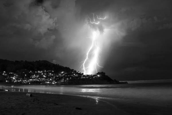 Photograph - Linda Mar Lightning by Bryant Coffey