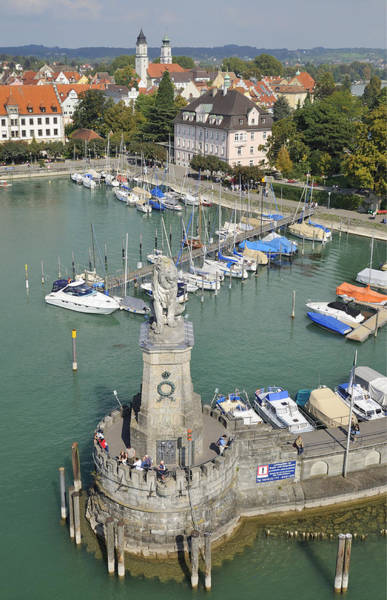 Photograph - Lindau Harbor With Boats And Town View From Above by Matthias Hauser