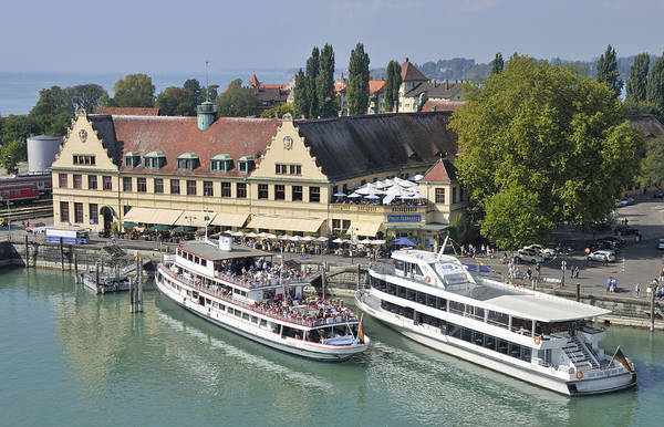 Photograph - Lindau Harbor With Ships Lake Constance Germany by Matthias Hauser