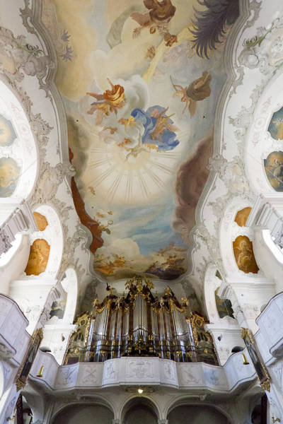Photograph - Lindau Organ And Ceiling by Jenny Setchell