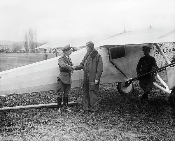 First Officer Photograph - Lindbergh And 'spirit Of St Louis' by Library Of Congress
