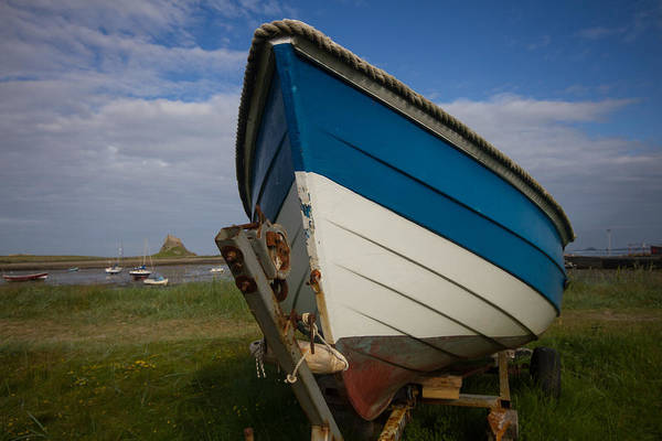 Berwick Upon Tweed Photograph - Lindisfarne Boat Bow by Gordon Ball