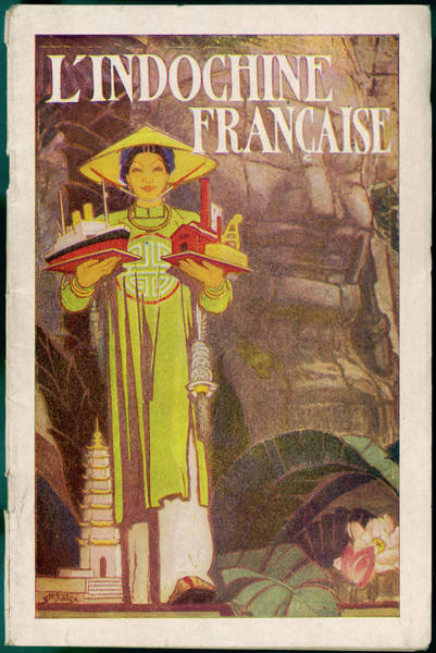 Brochure Drawing - 'l'indochine Francaise' A Propaganda by Mary Evans Picture Library