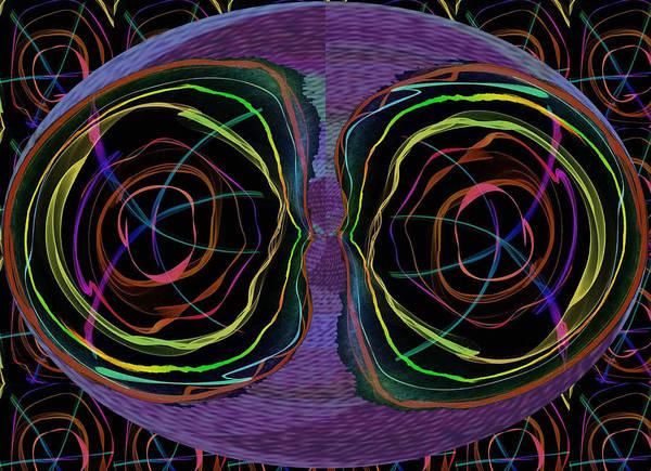 Neon Lights Mixed Media - Line Art Abstract  Eyes Alien Artistic Deco  by Navin Joshi