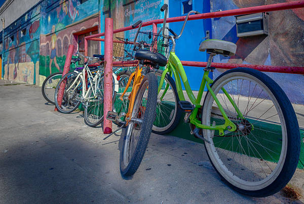 Bicycle Rack Photograph - Line Em Up by Scott Campbell