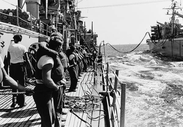 Shipmates Photograph - Line Handlers Aboard Uss Boston Bring by Stocktrek Images