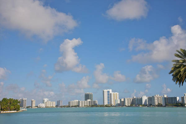 Biscayne Wall Art - Photograph - Line Of White Residential Towers Above by Barry Winiker