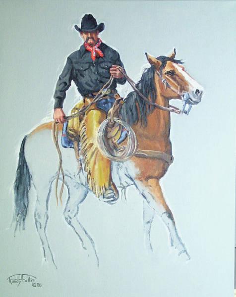 Follis Wall Art - Painting - Line Rider by Randy Follis