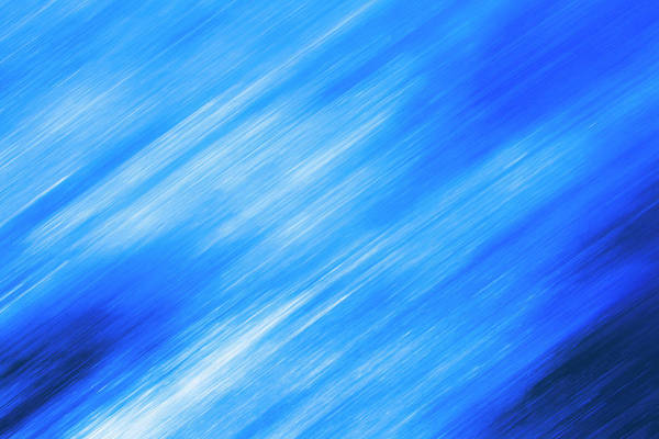Time Frame Photograph - Linear Texture On Blue, Diagonal by Kim Westerskov