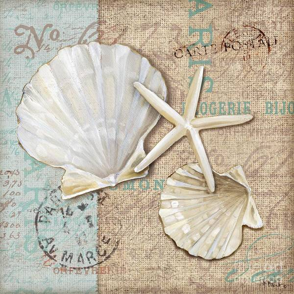 Nautilus Wall Art - Painting - Linen Shells I by Paul Brent