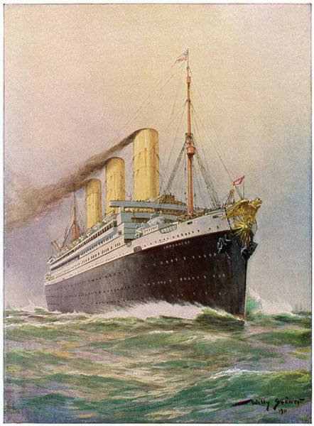 Wall Art - Drawing - Liner Of The Hamburg-amerika  Line - by Mary Evans Picture Library