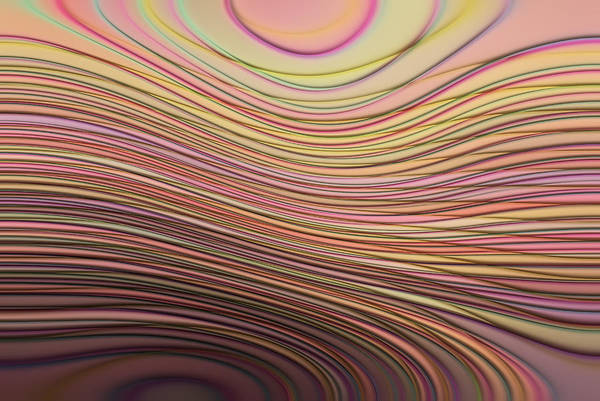 Smooth Digital Art - Lines And Circles -p08a by Variance Collections