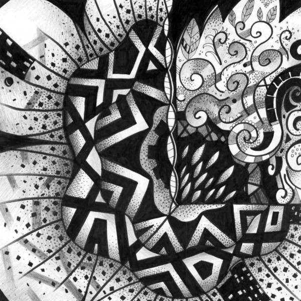 Drawing - Lines And Dots And Gradual Shadings by Helena Tiainen