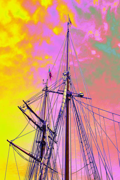 Photograph - Lines Masts And Spars by Richard Henne