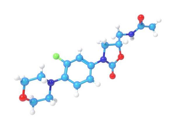 Linezolid Antibiotic Molecule Art Print