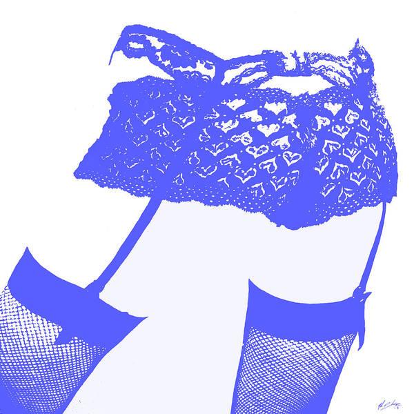 Wall Art - Painting - Lingerie IIi Blue by John Silver