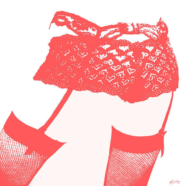 Wall Art - Painting - Lingerie IIi Red by John Silver