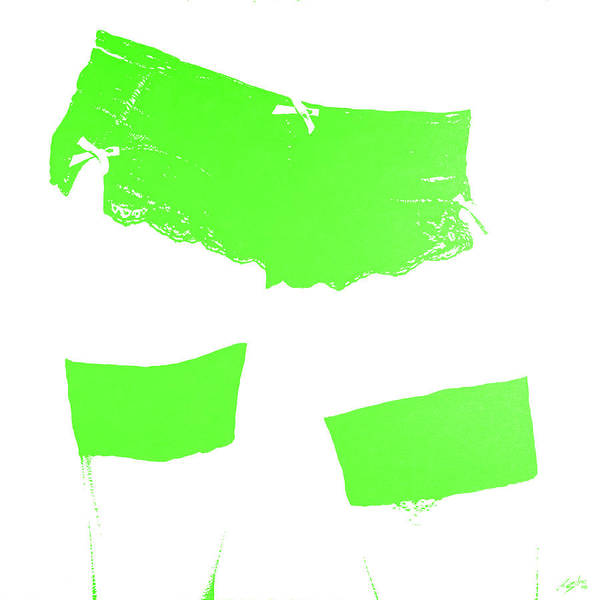 Wall Art - Painting - Lingerie Iv Green by John Silver