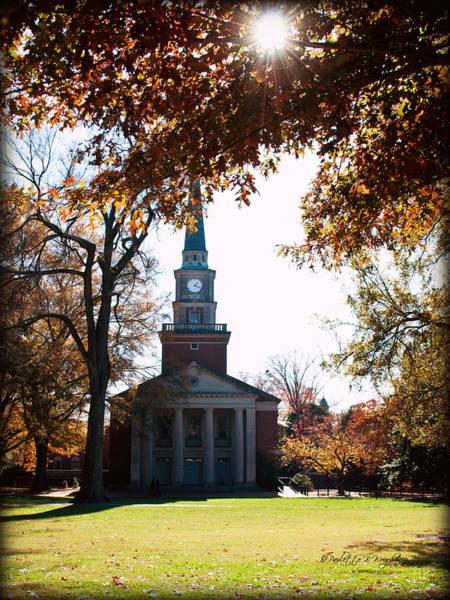 Photograph - Lingle Chapel - Davidson College by Paulette B Wright