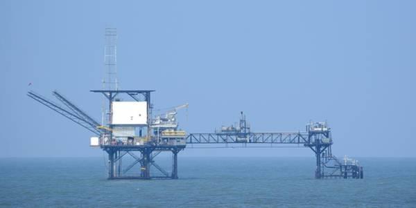 Photograph - Linked Gas Platform by Bradford Martin